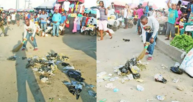 17-Year-old Juvenile Sentenced to 40 Strokes of Cane and Street Sweeping in Bayelsa (Photos)