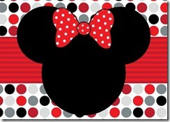 Convite Minnie Mouse grátis