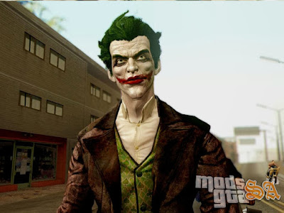 Skin Coringa do Batman Arkham Origins para GTA San Andreas