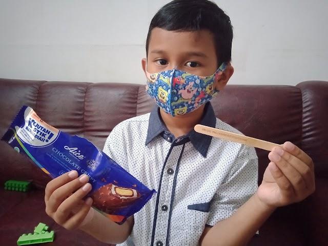 Covid-19 Belum Berakhir, Pesan di Stik Es Krim Ini Ingatkan Pentingnya Memakai Masker