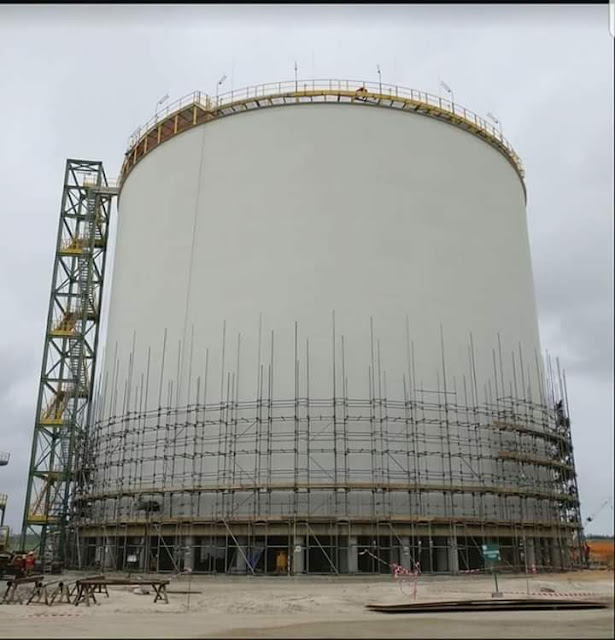 Photo : Dangote Refinery with capacity of 650,000 barrels per day.