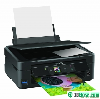 How to reset flashing lights for Epson SX230 printer