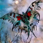 """The """"Moon Moth"""" piece from the """"2003"""" collection"""