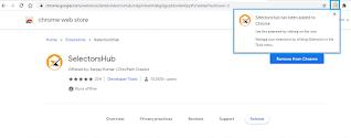 SelectorsHub iconin google chrome