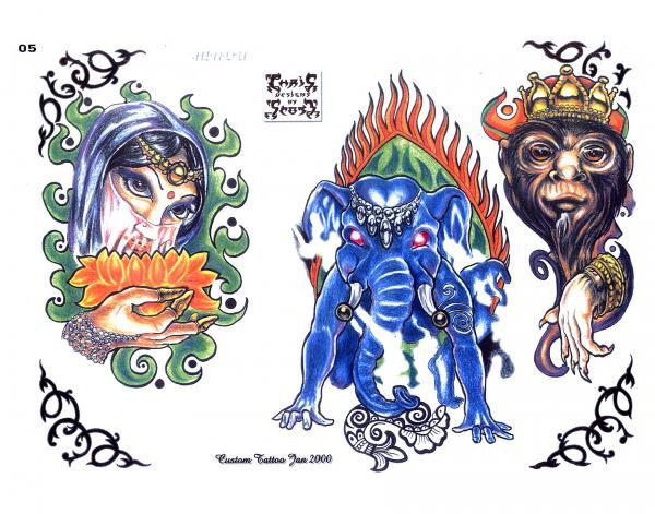 Design Of Magick Tattoo 2, Fantasy Tattoo Designs