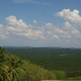 Plantations de palmiers à huile depuis Checkpoint (Batu 32, vue vers le sud) à 50 km de Sandakan (Sabah, Malaisie), 1er août 2011. Photo : J.-M. Gayman