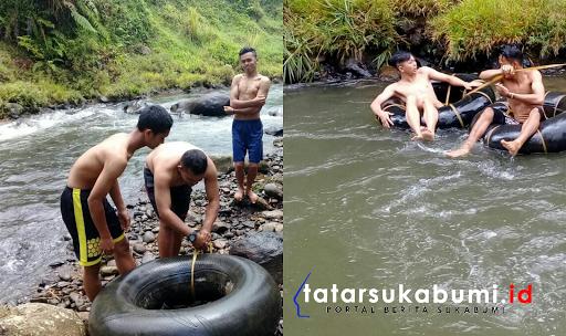 Wahana Papalidan River Tubing Sepanjang 200 Meter di Sukabumi