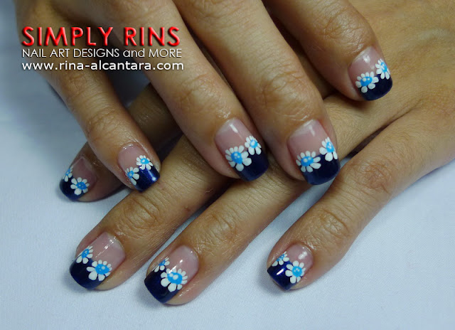 Feeling Blue Nail Art Design by Simply Rins