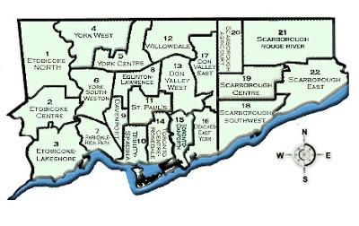 多伦多教育局中小学校区域分布图