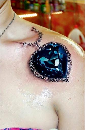 3d colar de projetos do tattoo de ideias para as meninas no Ombro