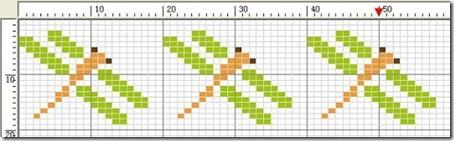 libelula punto de cruz (5)
