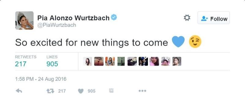 Pia Wurtzbach on Twitter