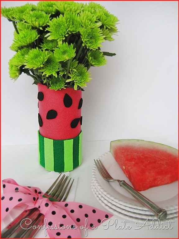 CONFESSIONS OF A PLATE ADDICT Easy Watermelon Vase