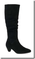Gabor Medium Calf Cone Heel Ruched Knee High Boot