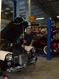 Here I am with a 41 Caddy and 50 Merc, both owned by Gary Righetti.