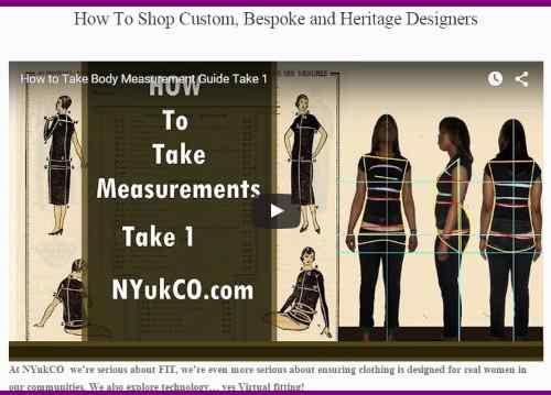 Online or Offline Great Fit start with the right  Measurements