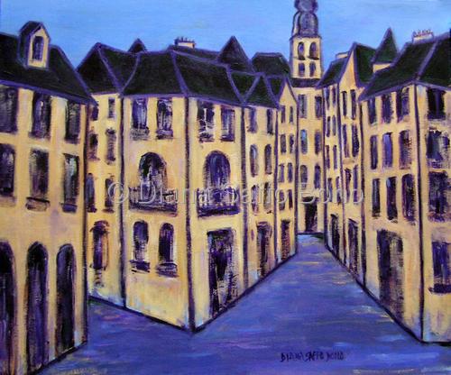"""Sarlat-la-Caneda, France"" by artist Diana Saffo Bono."