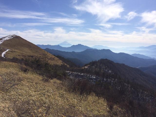 飯森山から富士山