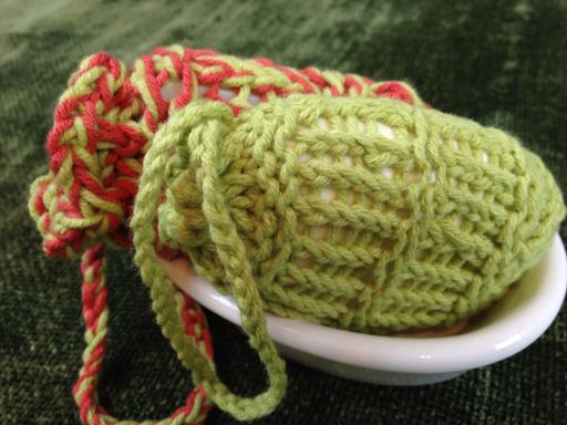 mesh soap bag - loom knit AllnOne