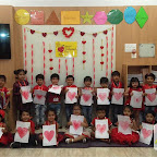 Valentine's Day Celebrated by Nursery Afternoon Section at Witty World, Chikoowadi (2017-2018)