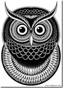 dibujos de buhod en blanco y negro (7)