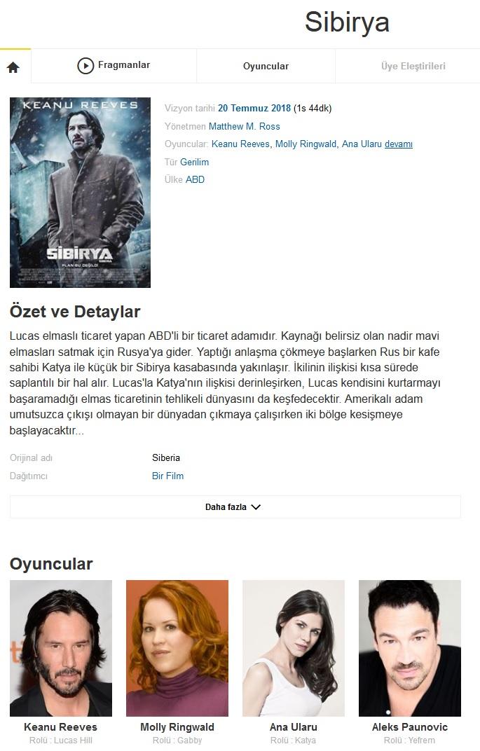 Sibirya 2018 - 1080p 720p 480p - Türkçe Dublaj Tek Link indir