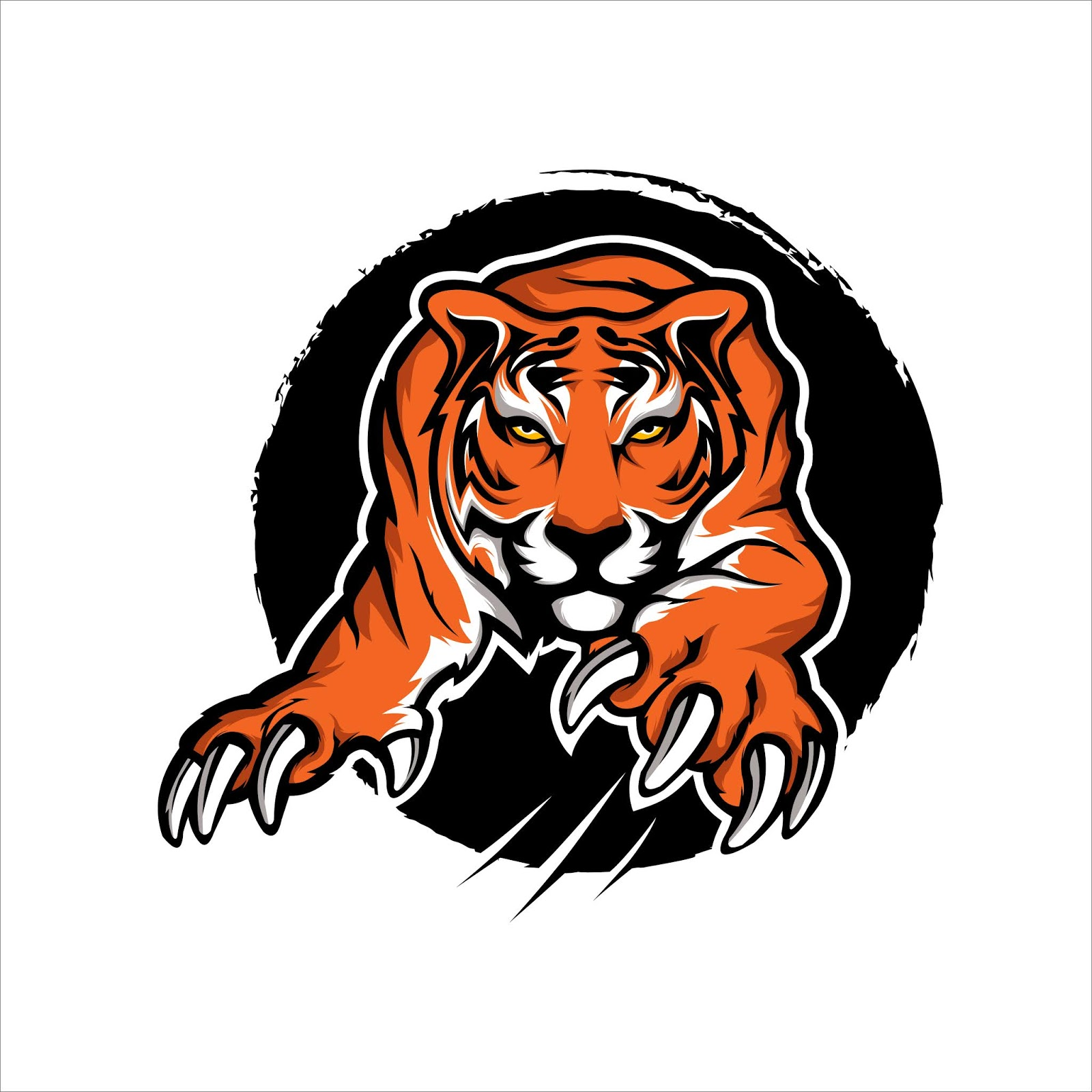 Tiger Mascot Sport Ilustration Free Download Vector CDR, AI, EPS and PNG Formats