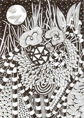 583 Zentangle Moon