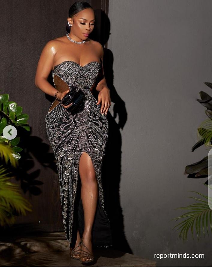 OAP Toke Makinwa looks gorgeous in her stunning dress (Photos)