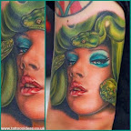 Green snakes - tattoo designs