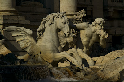Detail of the Trevi Fountain - Rome, Italy