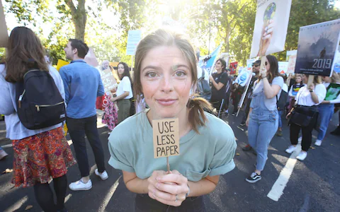 Climate change protester says she 'won't eat' until Boris Johnson gives in to climate change demands