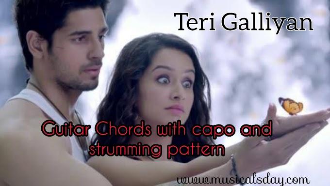 galliyan guitar chords with capo ankit tiwari