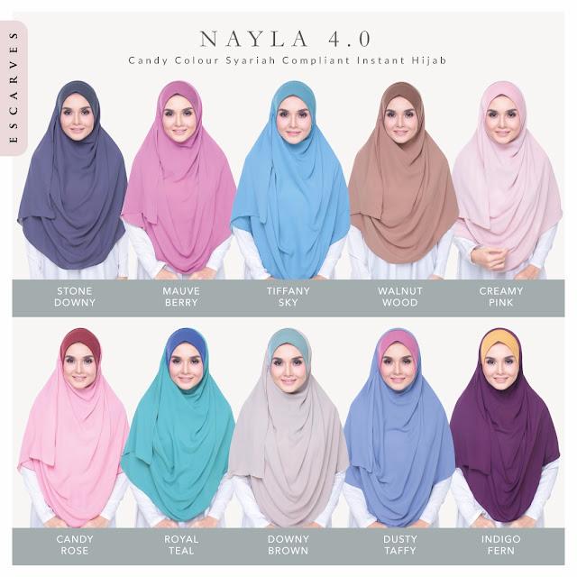 tudung shawl labuh