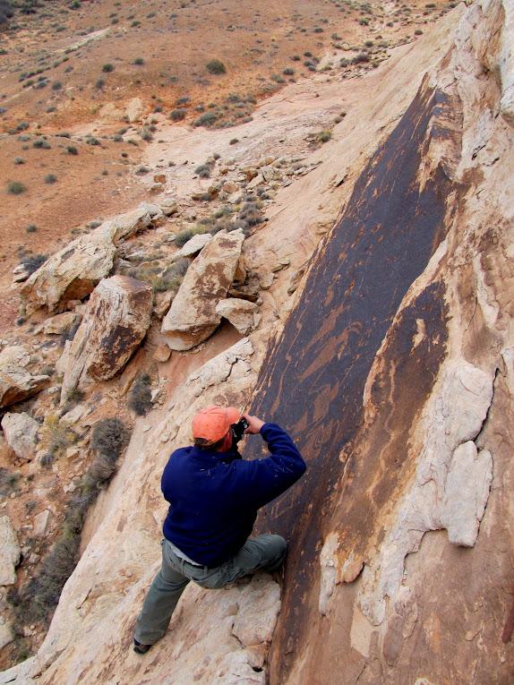 Alan photographing the petroglyphs