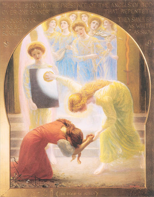 Arthur Hughes - The Door of Mercy