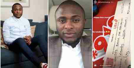 Ubi franklin Shows Off N20M Cheque He Got Today