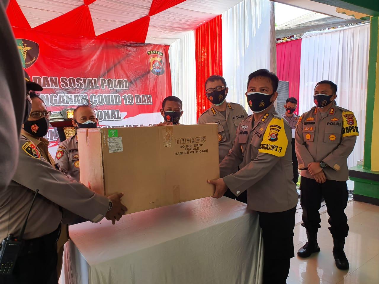 Pusdokkes Mabes Polri bersama Polda Banten Gelar Bakkes dan Baksos di Kantor Kecamatan Tanara
