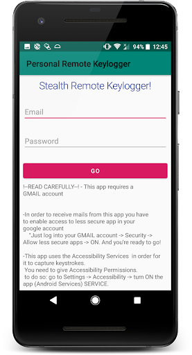Keylogger Remote App Report on Mobile Action - App Store