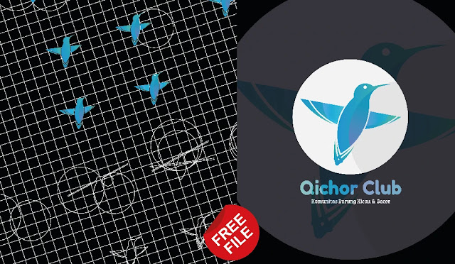 Free File : Cara Membuat logo Keren Humming Bird Illustrator