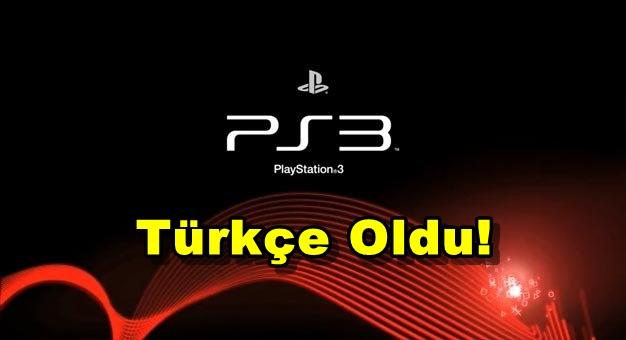 Playstation 3 Türkçe Oldu!