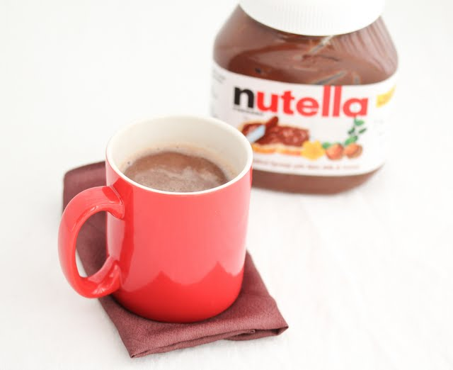 photo of a mug of Nutella Hot Chocolate
