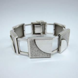 Coin Silver Modernist Bracelet