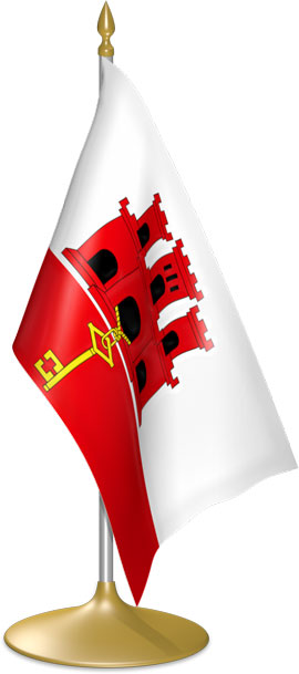 Gibraltar table flags - desk flags