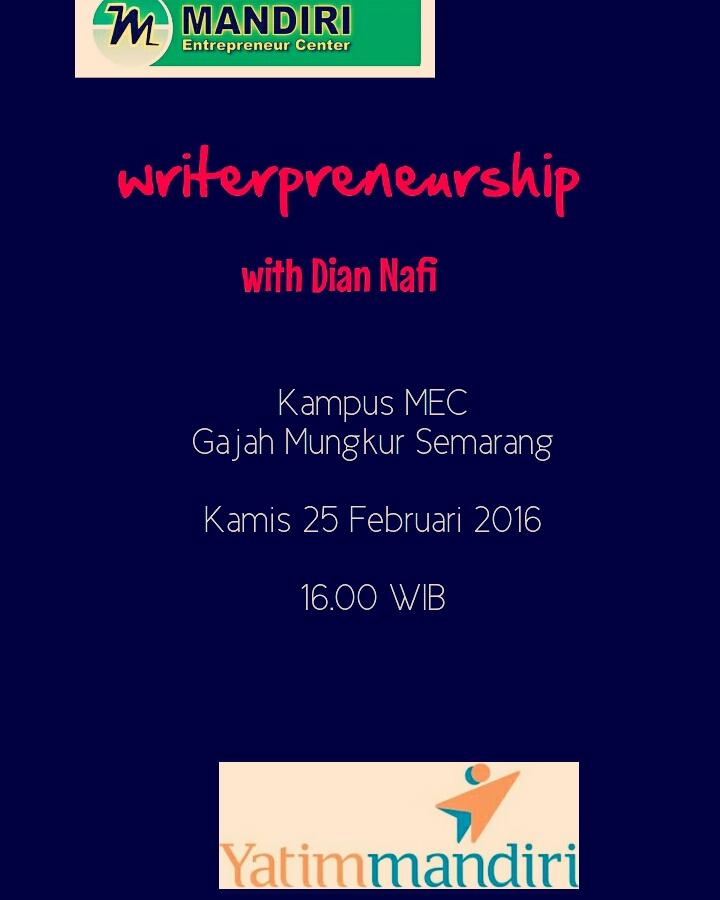 Sharing Tentang Writerpreneurship Berikutnya