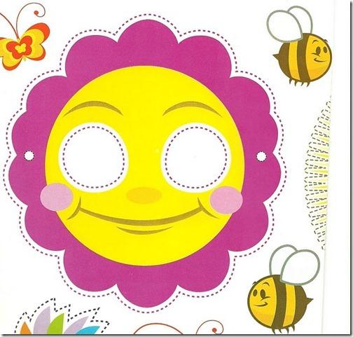 mascara de flor