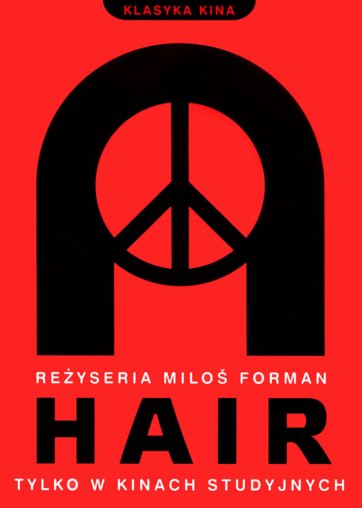 Ulotka filmu 'Hair (przód)'