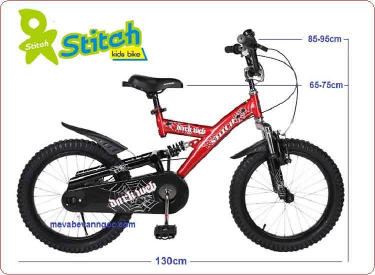 Xe đạp cho trẻ em Stitch JK 912 màu đỏ.