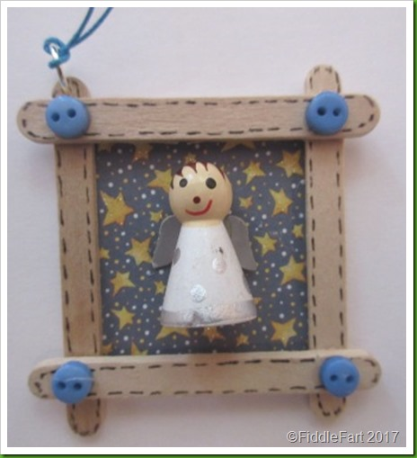 Wooden Angel Craft Stick Tag