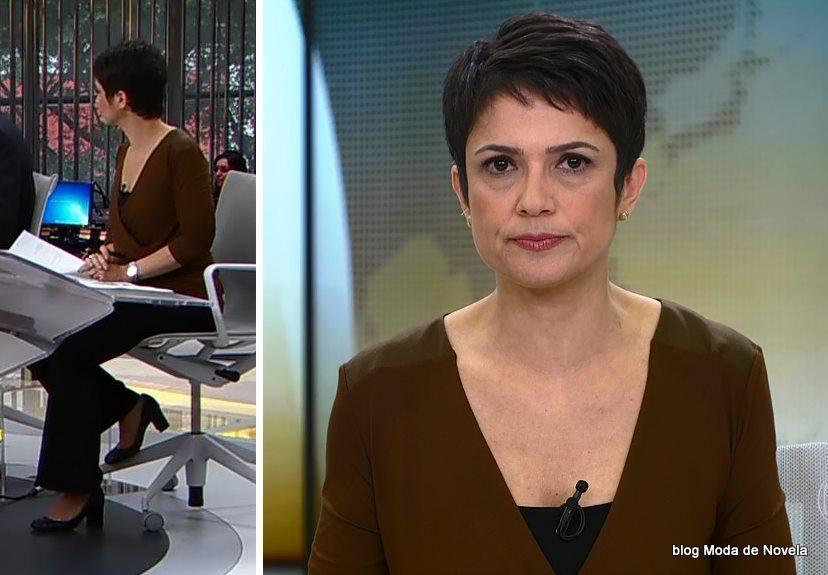 moda do programa Jornal Hoje - look da Sandra Annenberg dia 26 de maio